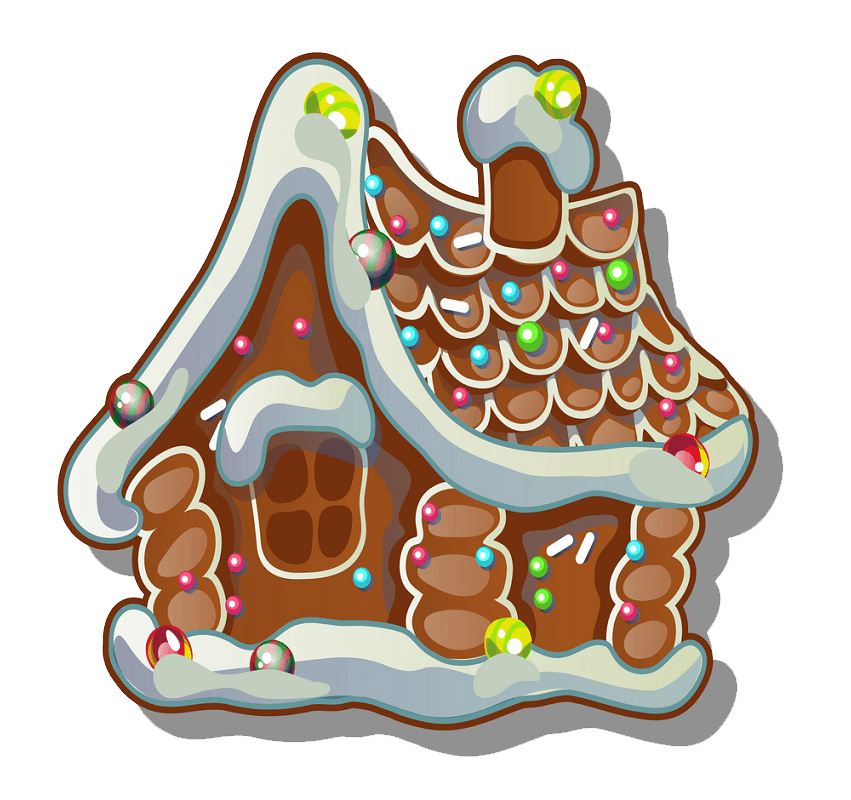 Adorable Gingerbread House clipart transparent