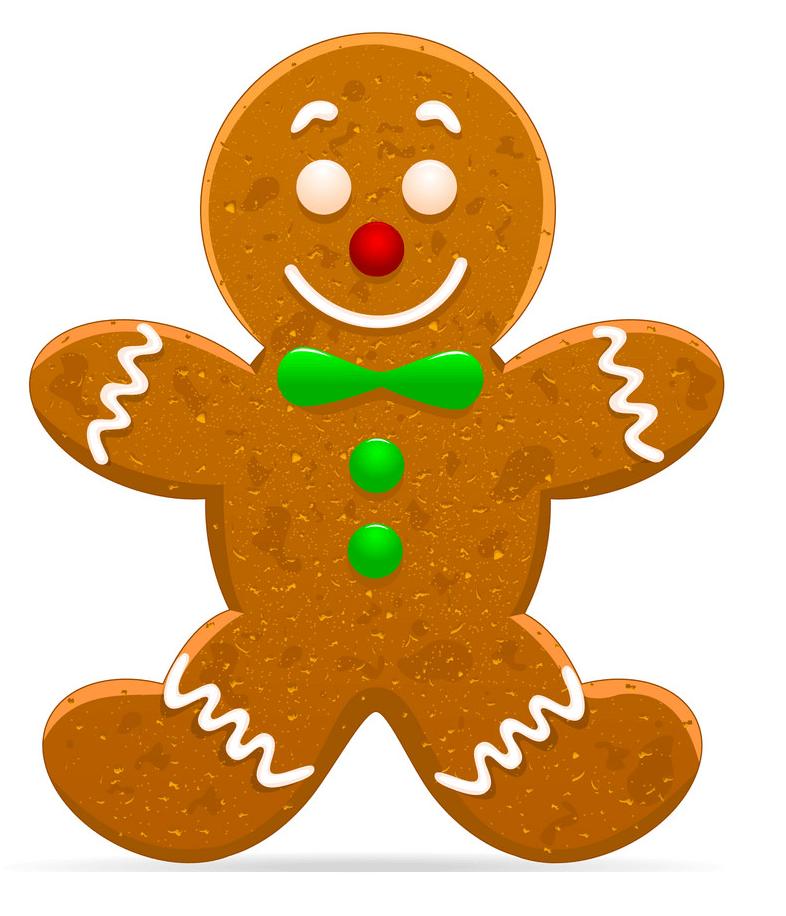 Adorable Gingerbread Man clipart