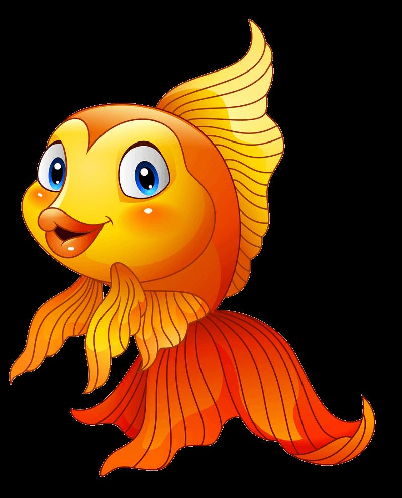 Adorable Goldfish clipart transparent