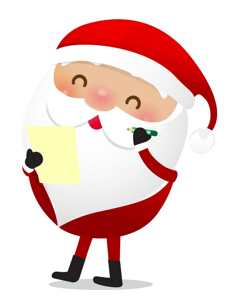 Adorable Santa Claus clipart