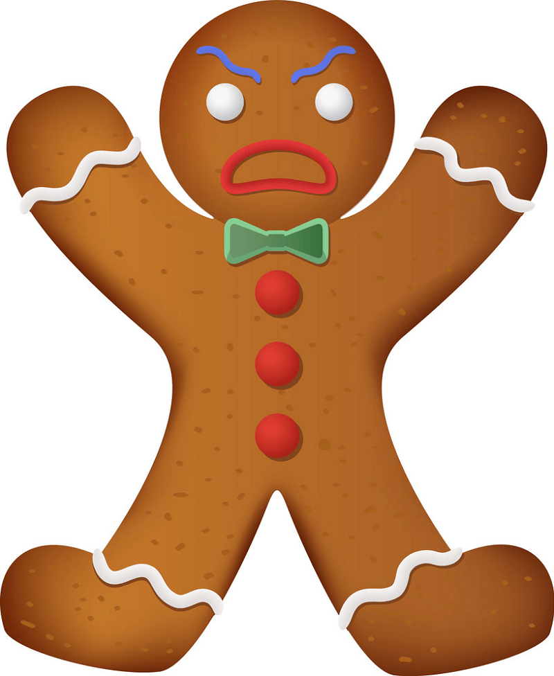 Angry Gingerbread Man clipart