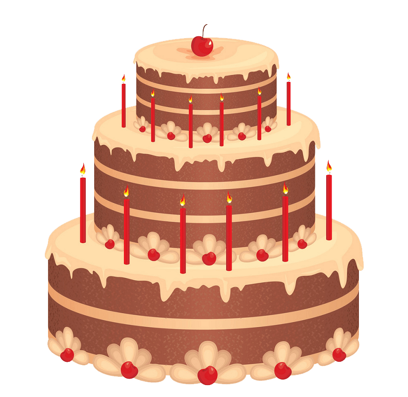 Beautiful Birthday Cake clipart transparent