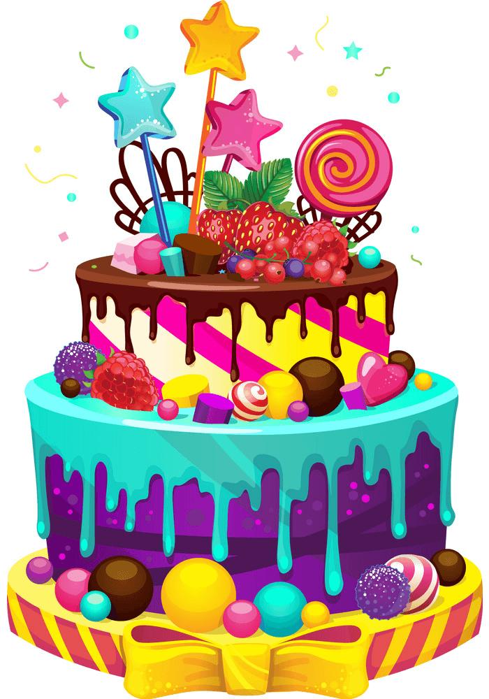 Beautiful Birthday Cake clipart