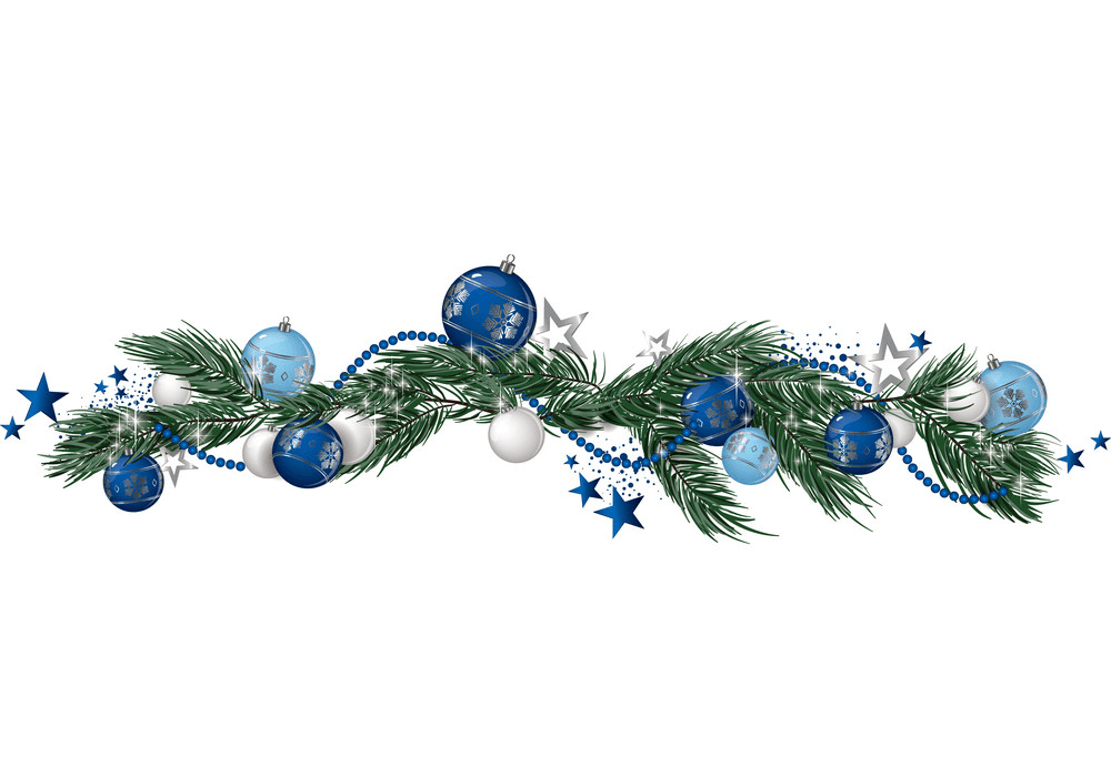 Beutiful Christmas Garland clipart 1