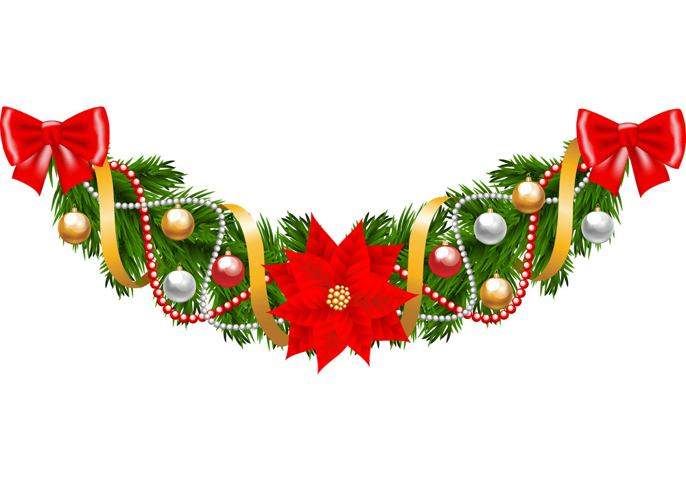Beutiful Christmas Garland clipart