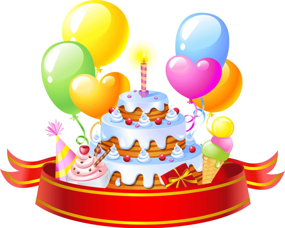 Big Birthday Cake clipart