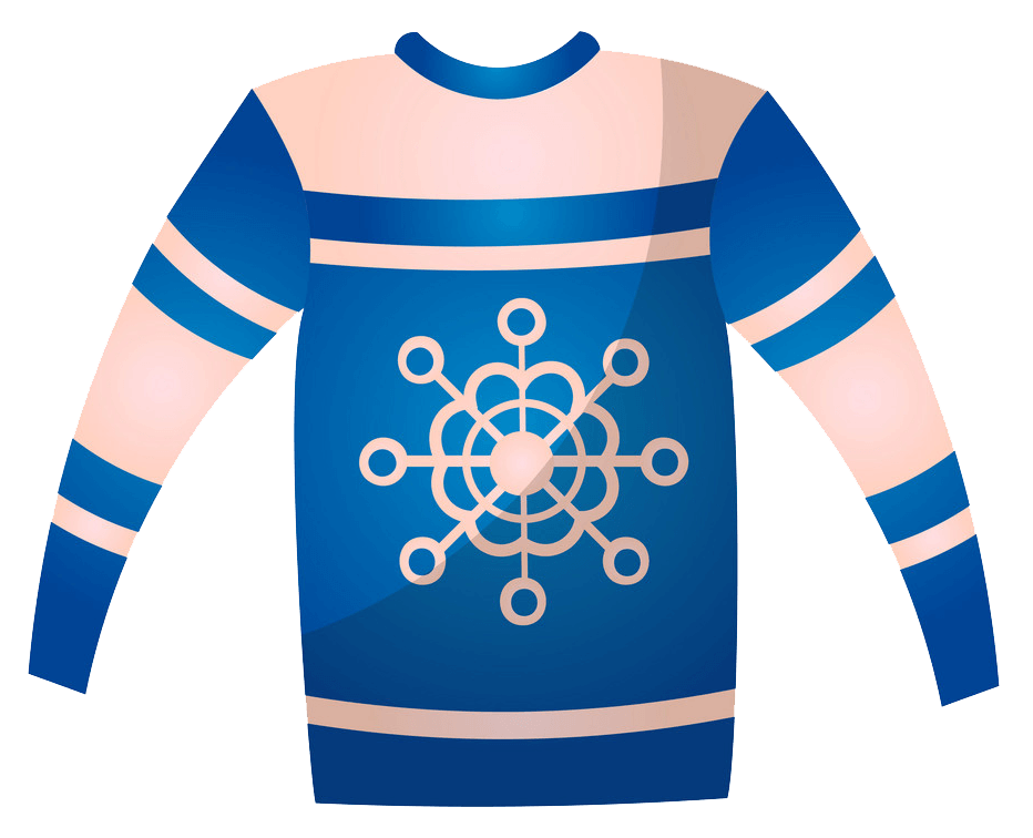 Blue Christmas Sweater clipart transparent