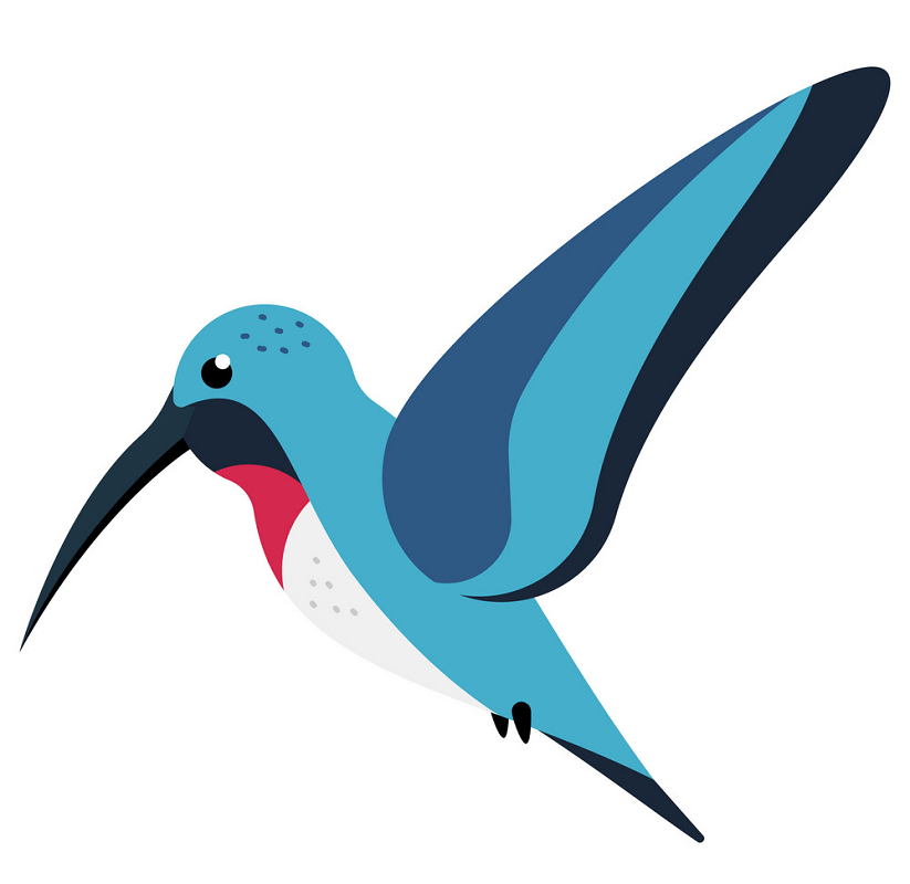 Blue Hummingbird clipart