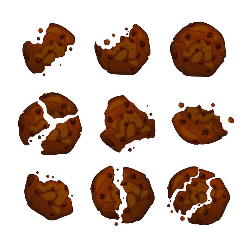 Broken Cookies clipart