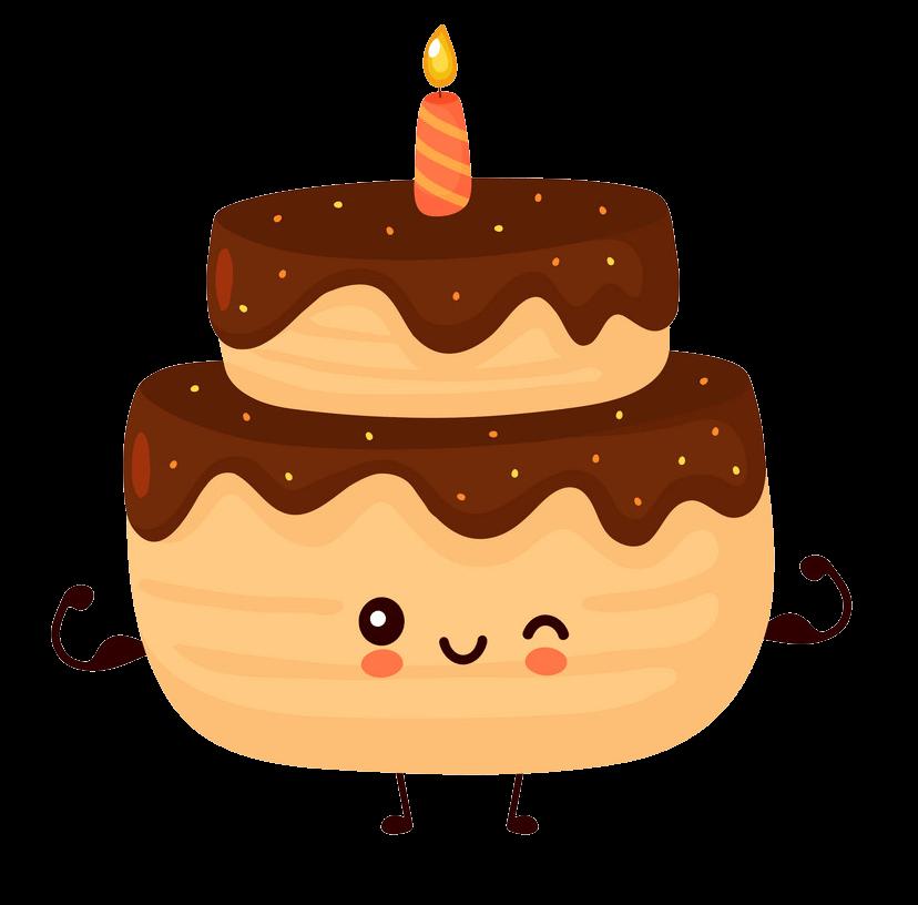 Cartoon Birthday Cake clipart transparent