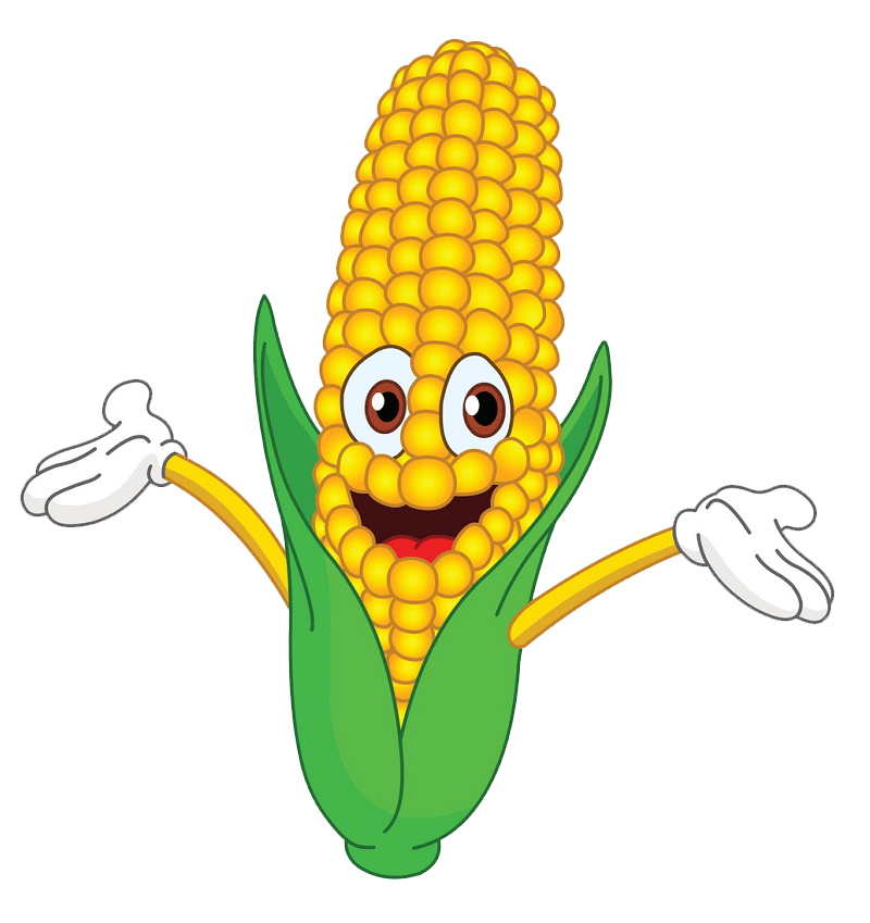 Cartoon Corn clipart transparent