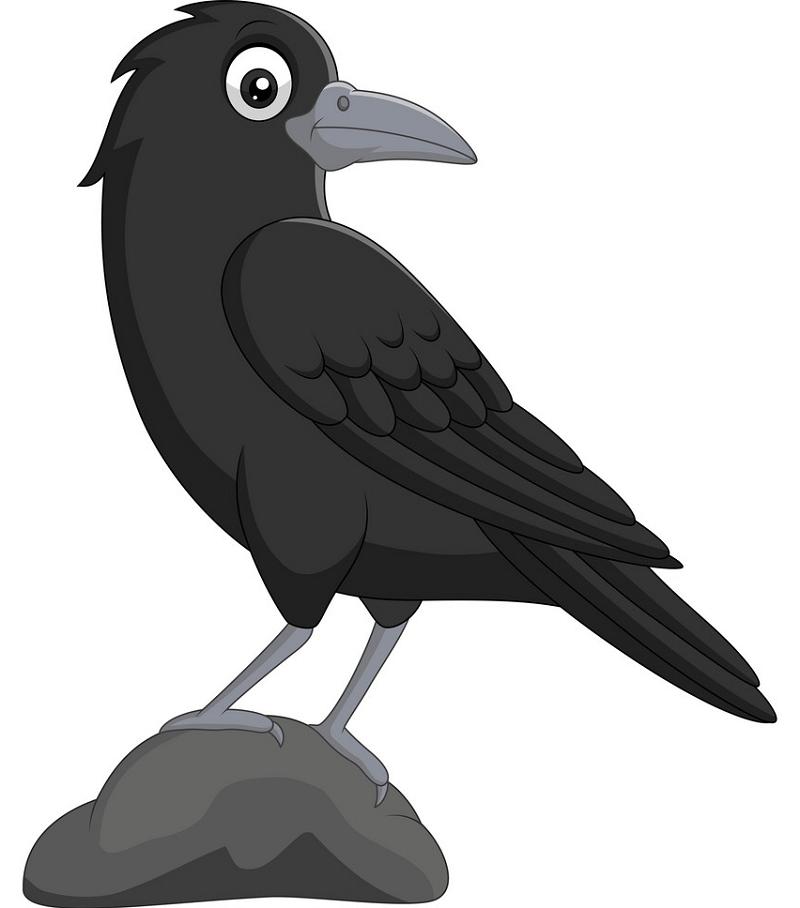 Cartoon Crow clipart 1