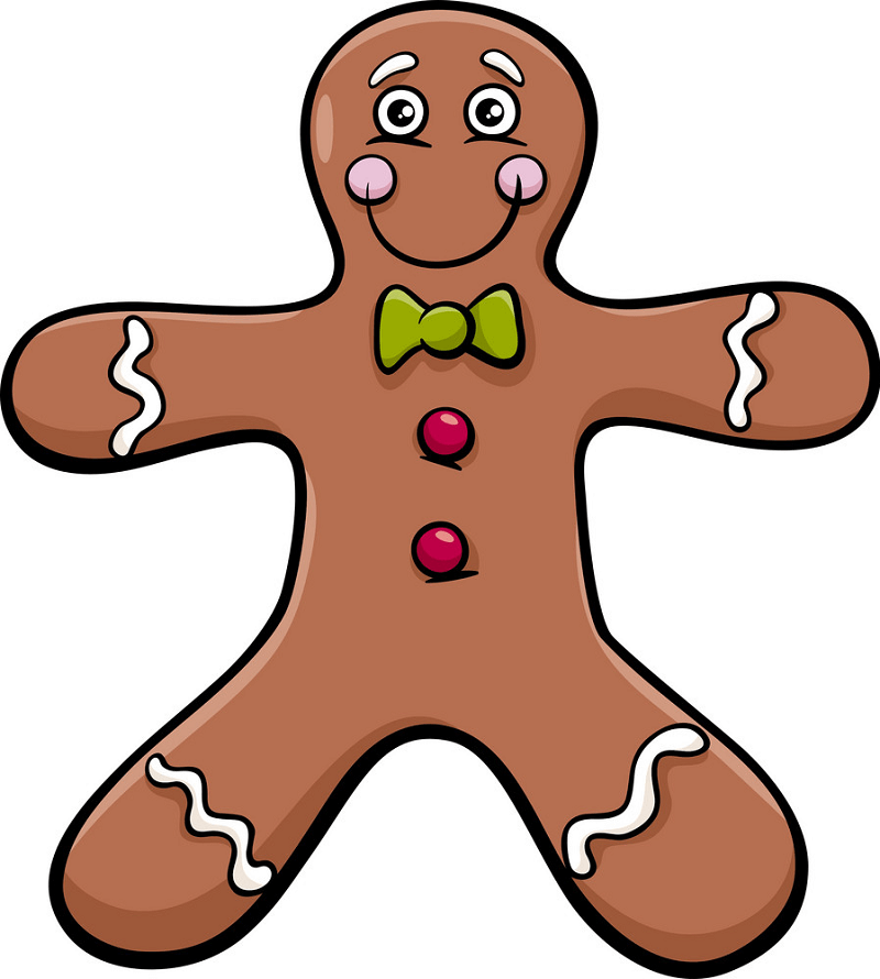 Cartoon Gingerbread Man clipart