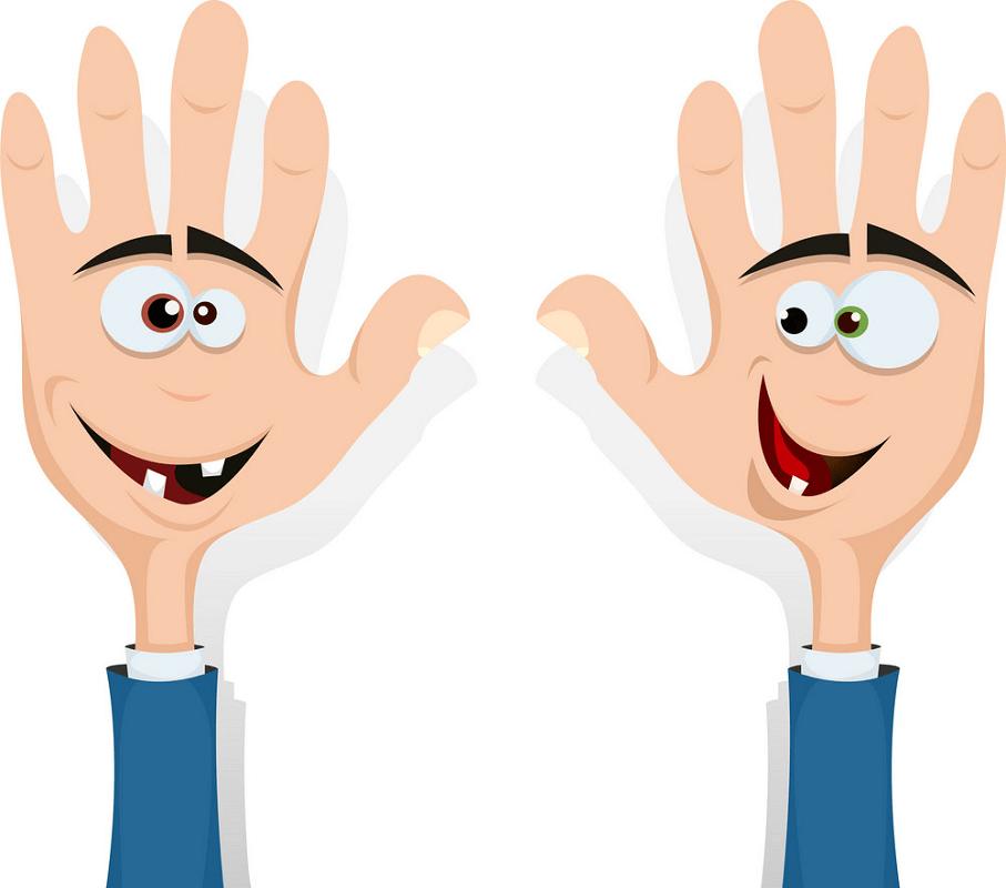 Cartoon Hands clipart