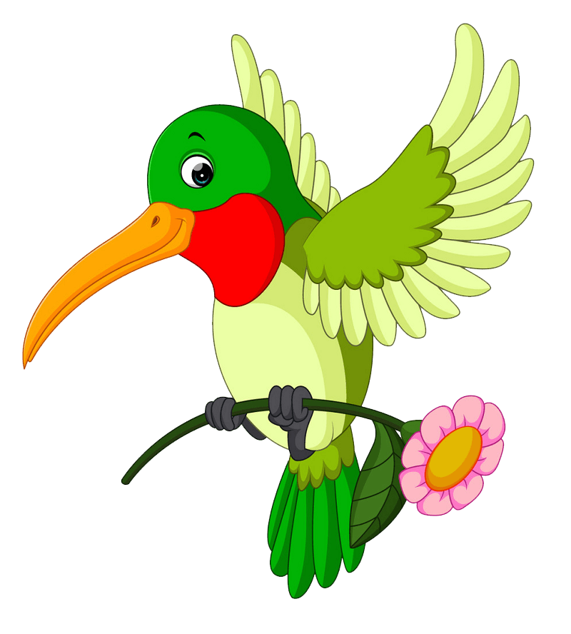 Cartoon Hummingbird clipart transparent 1