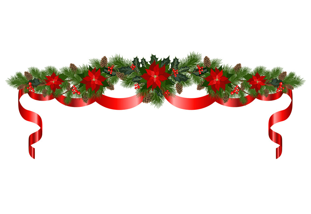 Celebratory Christmas Garland clipart