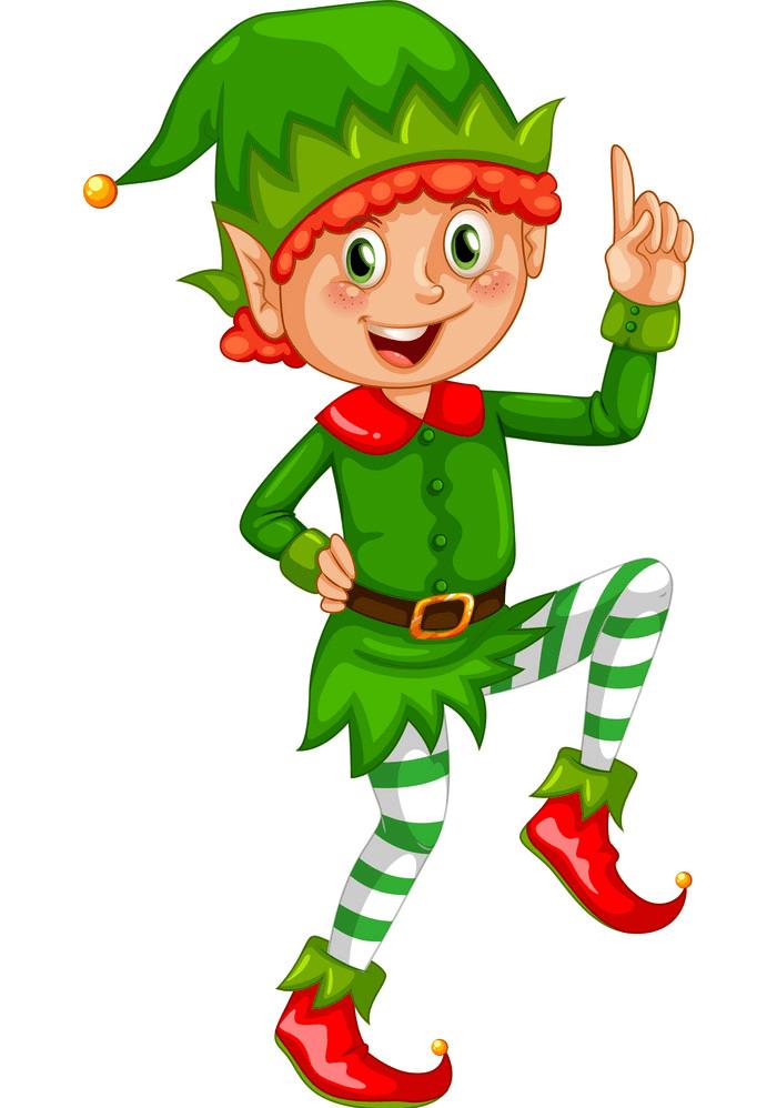 Christmas Elf Smiling clipart