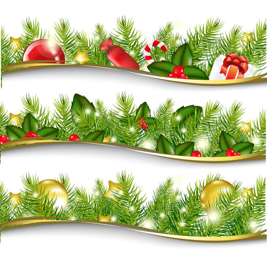 Christmas Garland Set clipart