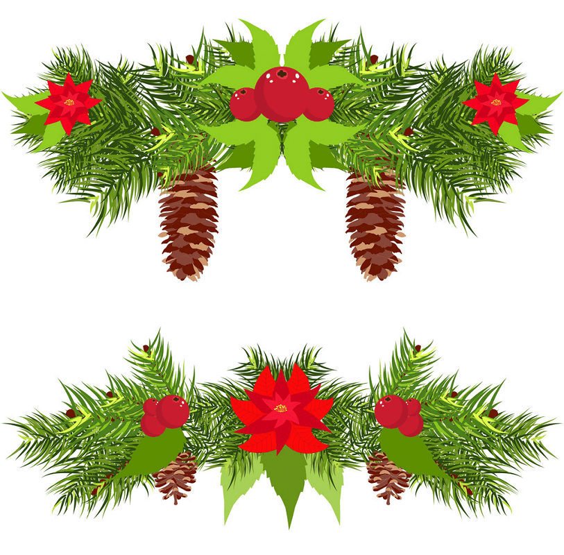 Christmas Garland clipart 4