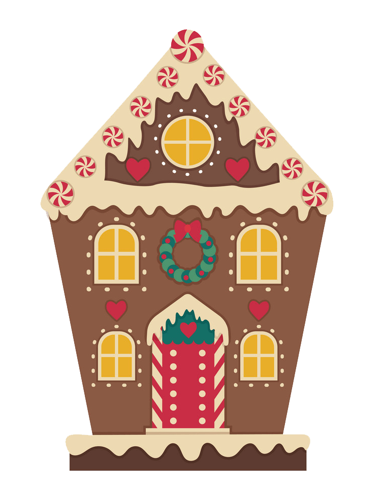 Christmas Gingerbread House clipart transparent