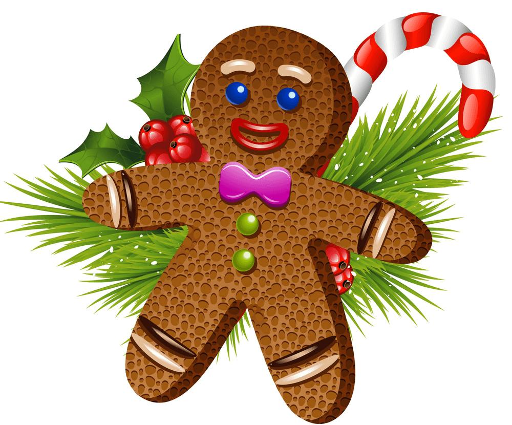 Christmas Gingerbread Man clipart 1