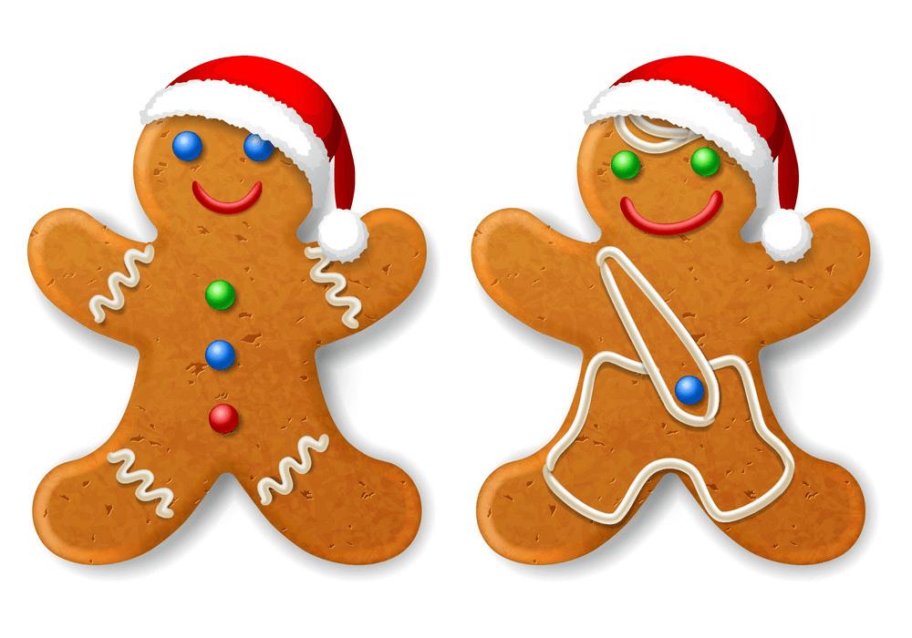 Christmas Gingerbread Man clipart