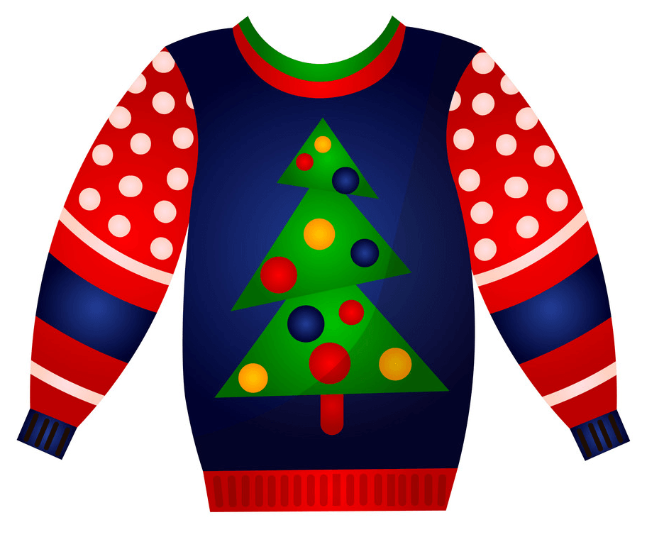 Christmas Sweater with Christmas Tree clipart