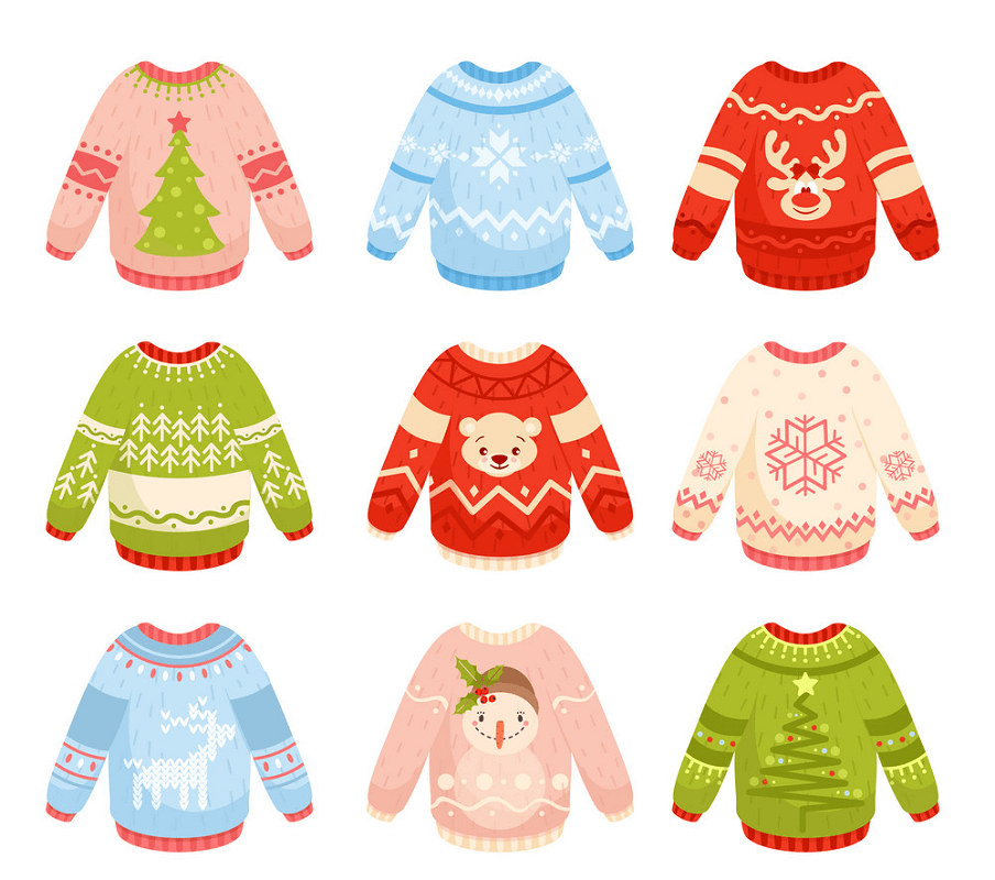 Christmas Sweaters clipart
