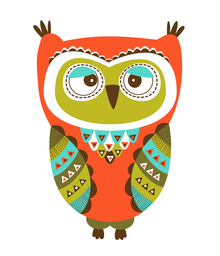 Colorful Owl clipart transparent