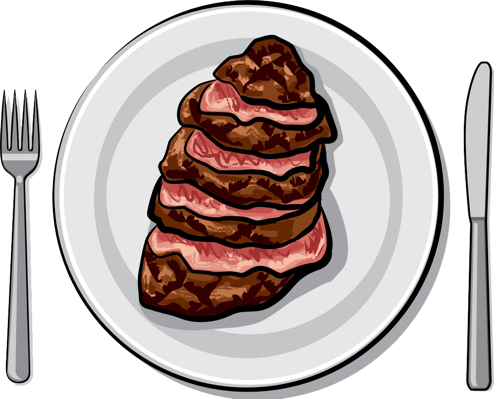 Cooked Beef Steak clipart transparent