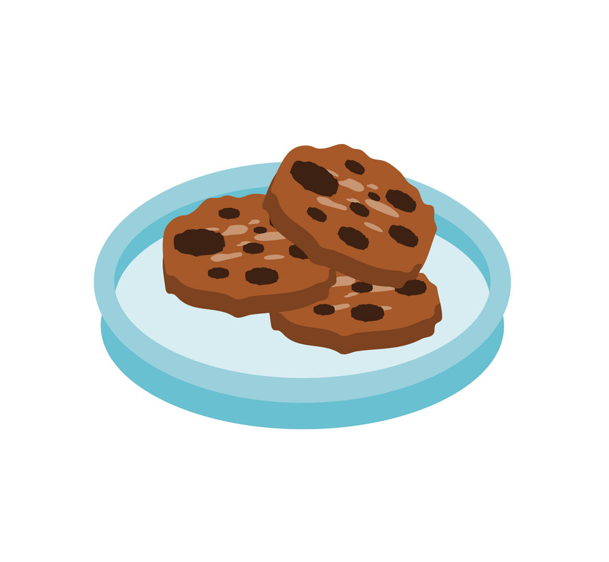 Cookies on Plate clipart
