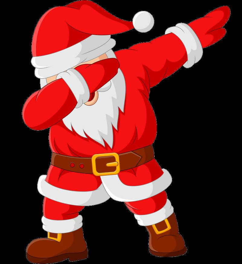 Cool Santa Claus clipart transparent