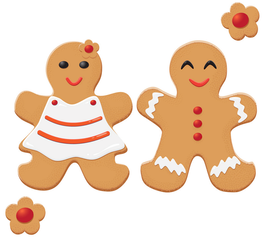 Couple Gingerbread Man clipart