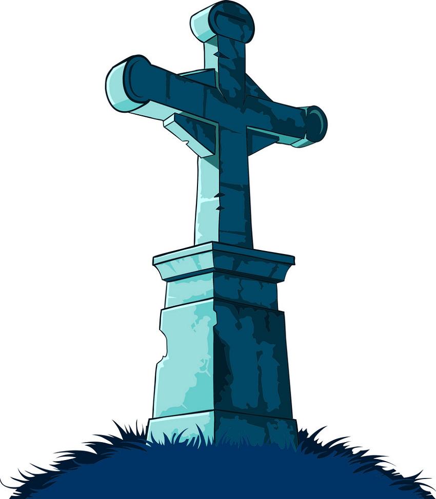 Cross Tombstone clipart