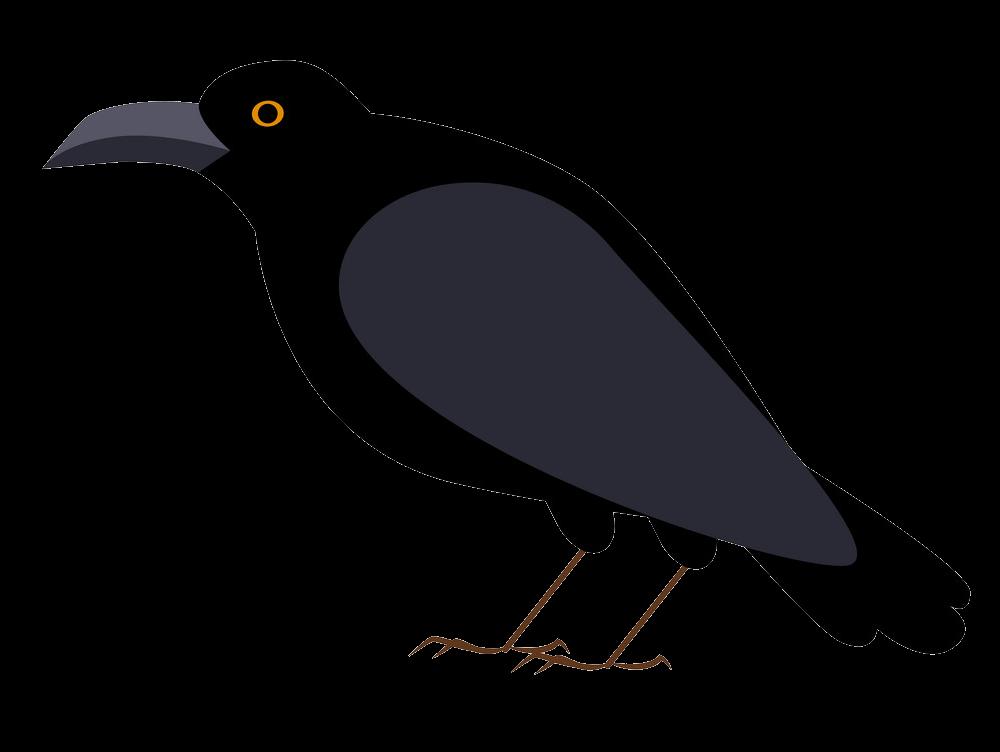 Crow clipart transparent 1