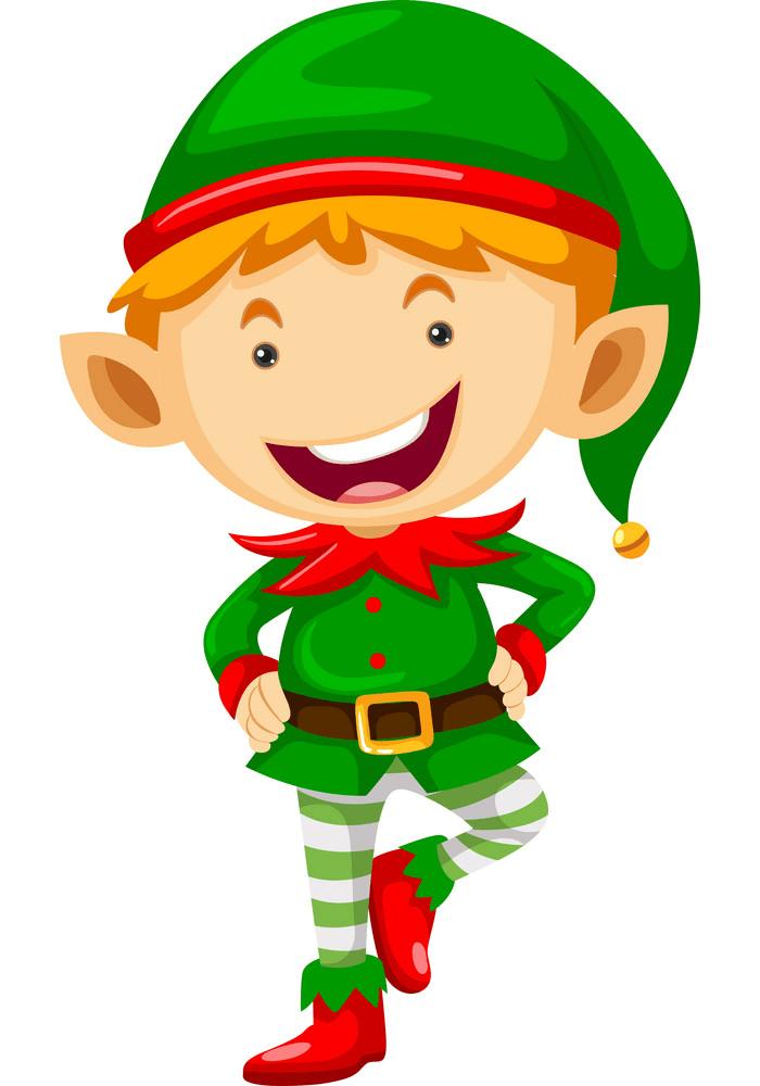Cute Christmas Elf clipart