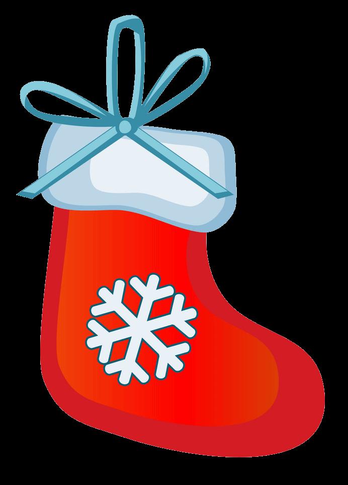 Cute Christmas Stocking clipart transparent