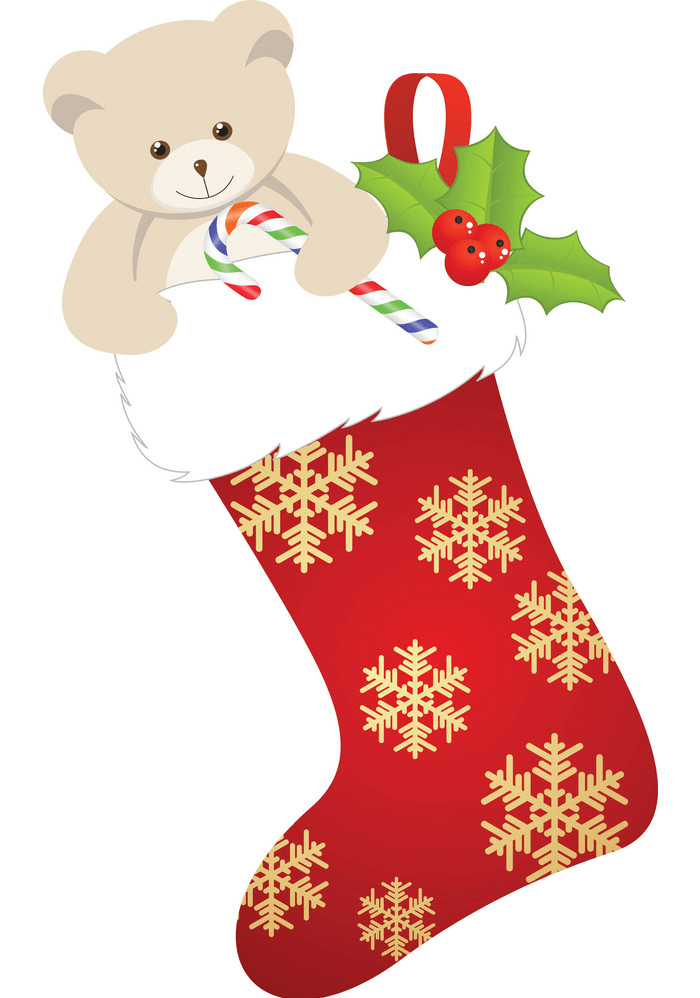 Cute Christmas Stocking clipart