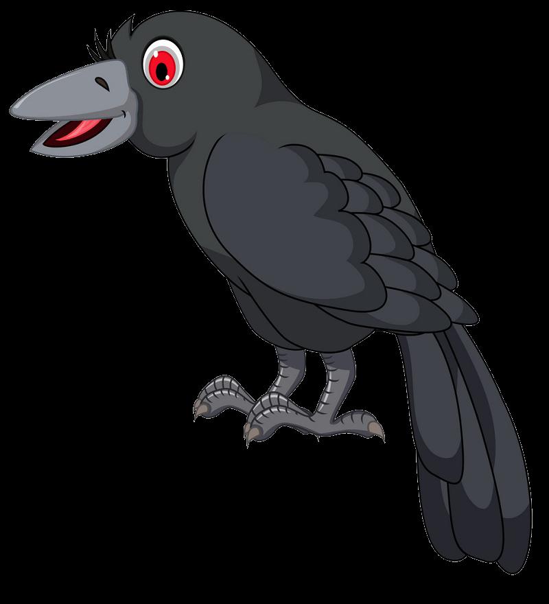 Cute Crow clipart transparent