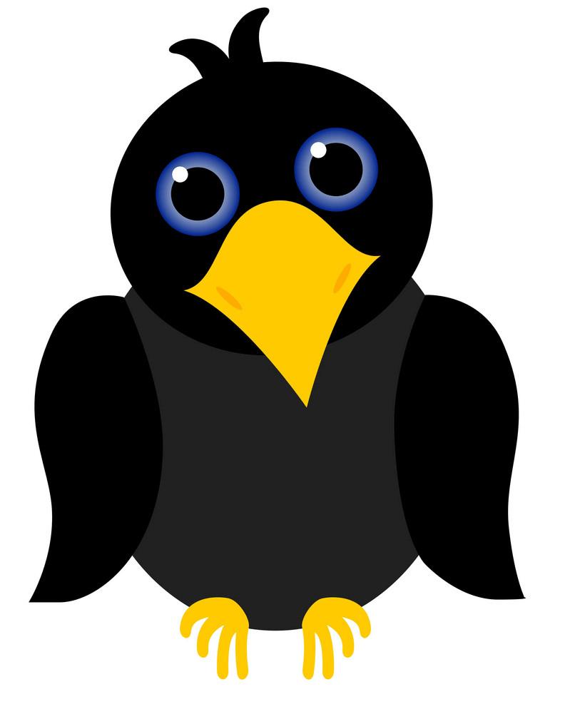 Cute Crow clipart
