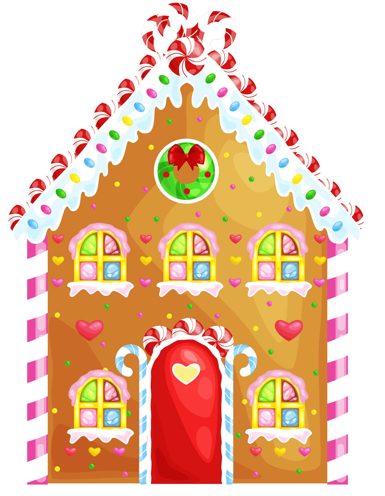 Cute Gingerbread House clipart