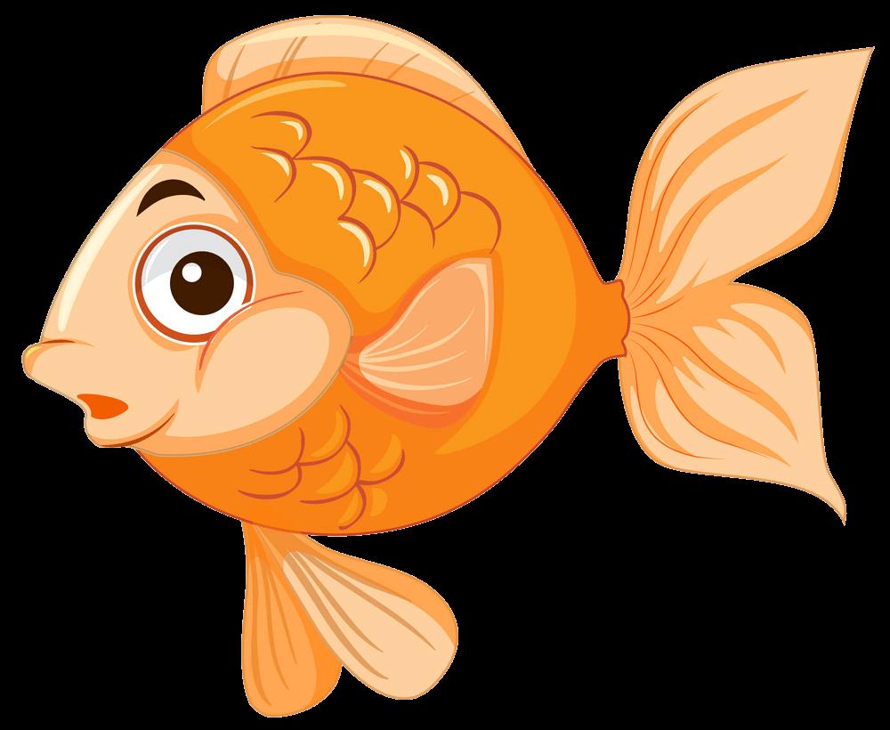 Cute Goldfish clipart transparent 1