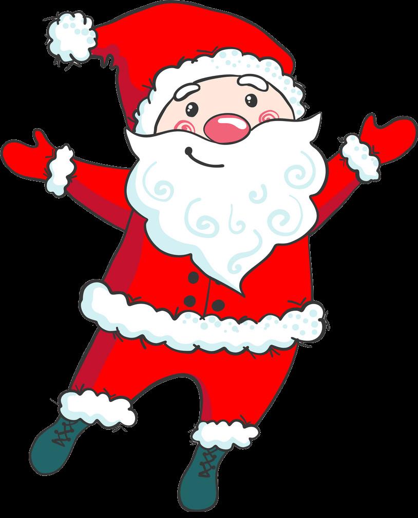 Cute Santa Claus clipart transparent