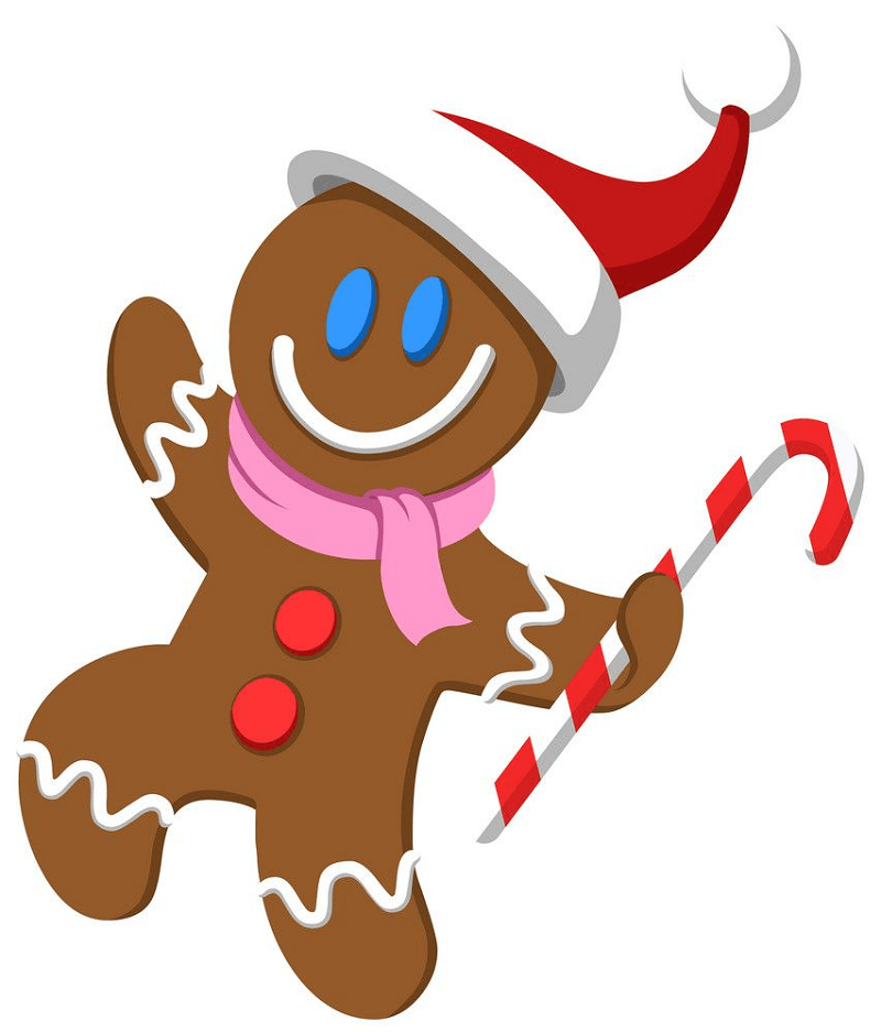 Dancing Gingerbread Man clipart