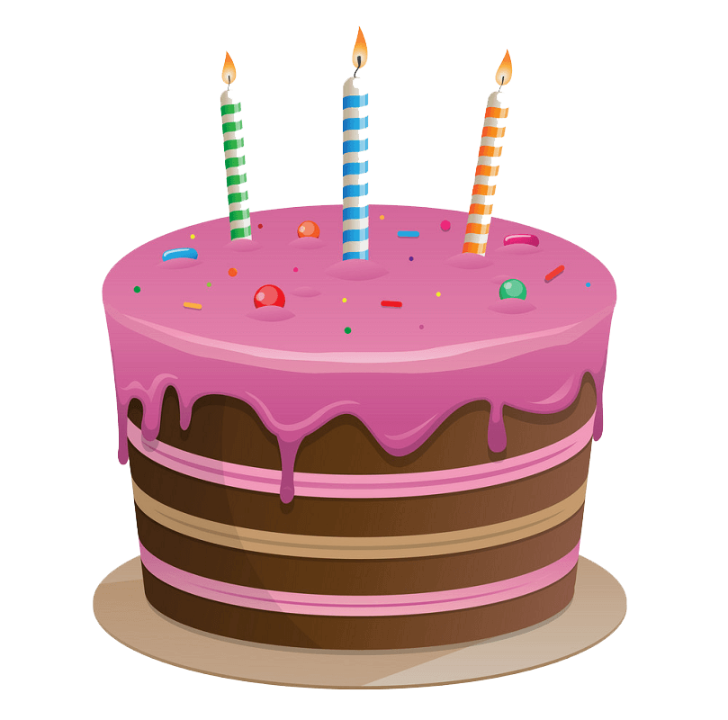 Delicious Birthday Cake clipart transparent