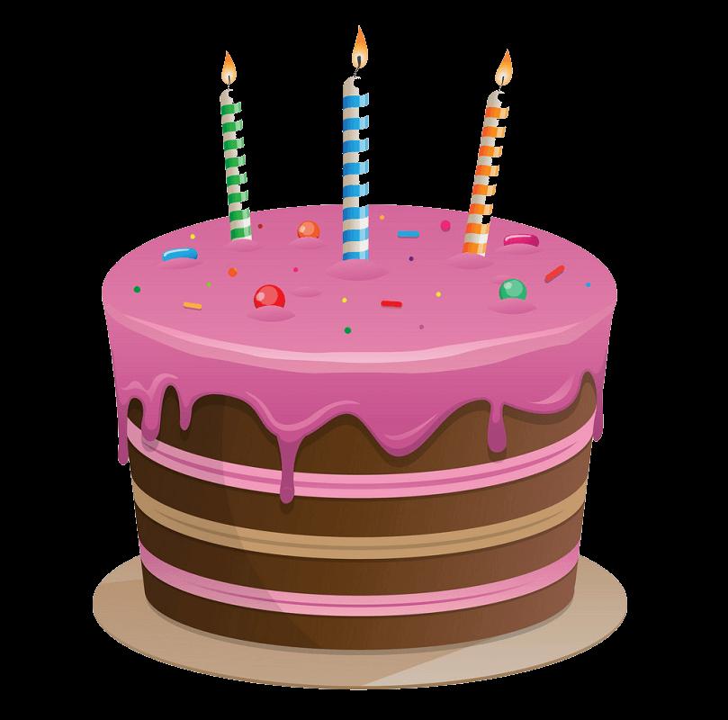 Delicious Birthday Cake clipart transparent