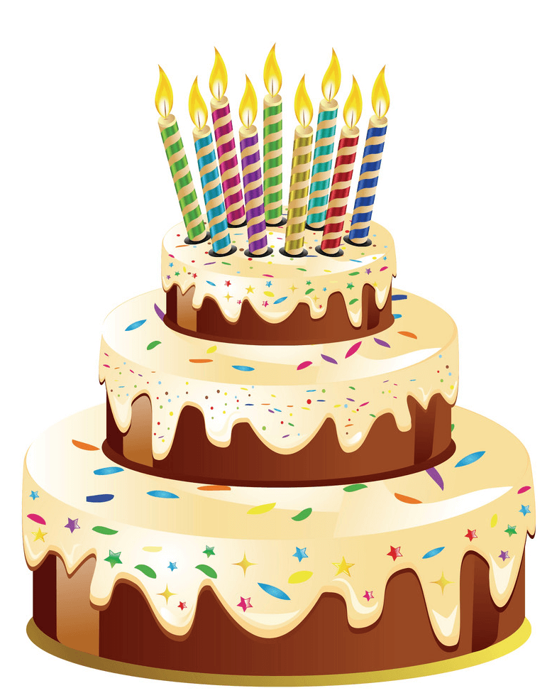 Delicious Birthday Cake clipart