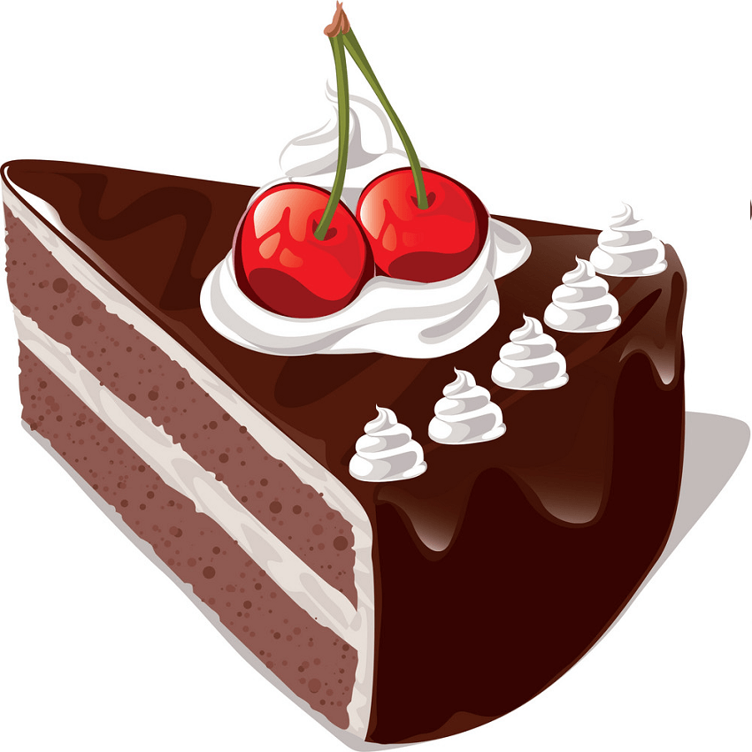 Delicious Chocolate Cake clipart