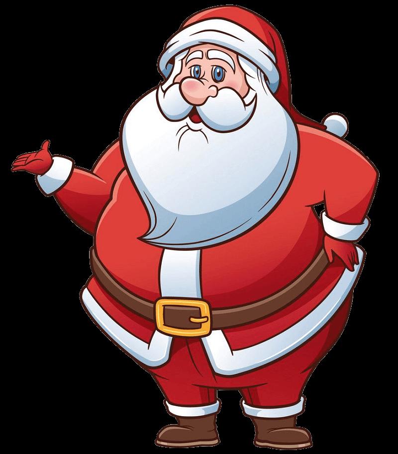 Fat Santa Claus clipart transparent