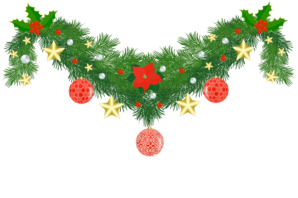 Fir Christmas Garland clipart